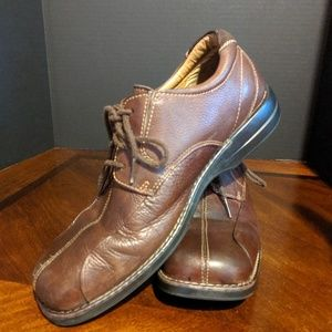 Men's Dockers All Motion Comfort Brwn Leather Shoe